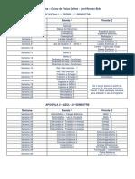 Cronograma de Estudos - Física