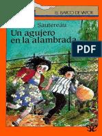 [El Barco de Vapor] [Serie Naranja 12] Sautereau, Francois - Un Agujero en La Alambrada [16792] (r1.0 JMYuste)