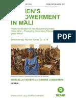 Women's Empowerment in Mali