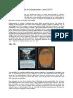 Guide d'Evaluation de Cartes MTG