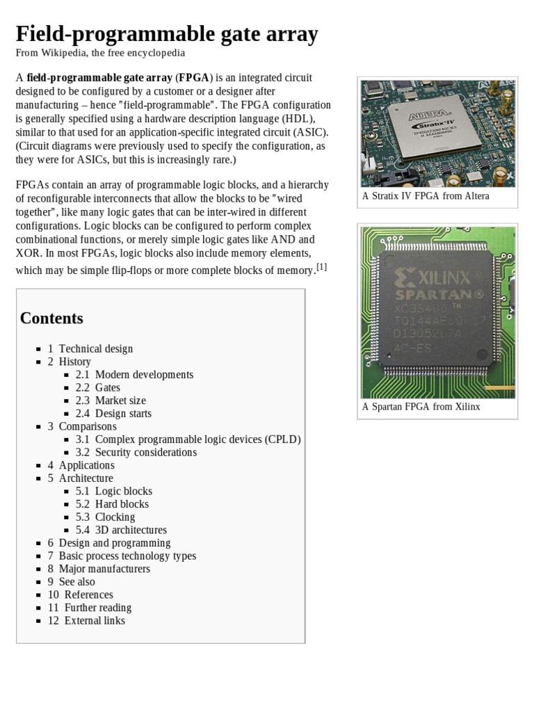 field programmable gate array wikipedia, the free encyclopedia