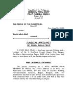 Judicial Affidavit of Juan Dela Cruz