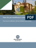 Politecnico di Milano- Presentation Template