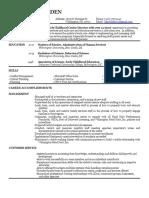 kim b new resume 2017