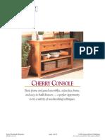 [Woodworking Plans] Woodsmith Magazine Cherry Console