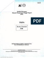 Soal Sbmptn 2016 Tkpa 336