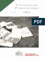 Catalogo Publicaciones 1993