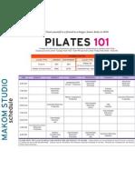 Makom Pilates Schedule