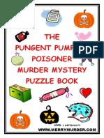 The Pungent Pumpkin Poisoner Murder Mystery Puzzle Book