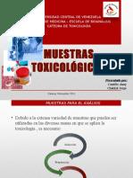 Muestras Toxicológicas