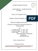 Panamá en El Contexto de La Colonización Española y Su Misión Transitista.