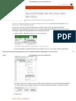 Alterar a Disponibilidade de Recursos Sem Usar Um Calendário - Project