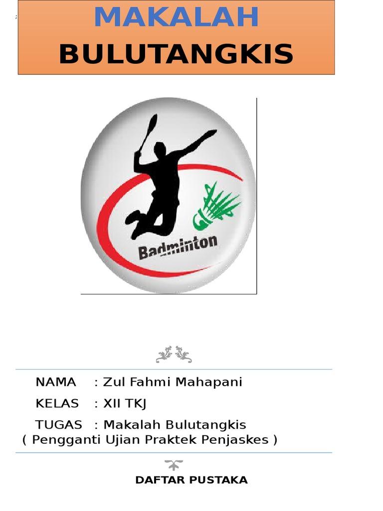 Cover Makalah Bulutangkis Badminton