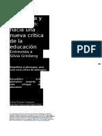 Grinber Sobre Biopolitica y Educacion