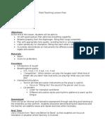 field teaching lesson plan