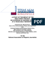 Texas A & M Univ., Kingsville Content Audit of Parity Project @ Corpus Christi Caller-Times