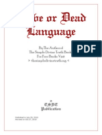 Alive or Dead Language