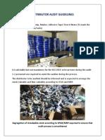 Distributor Audit Guidelines
