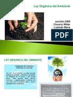 Diapositivas de La Expo de Mañana Ley Del Ambiente