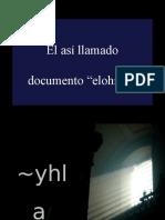 07 26 La Si Llamada Hipotesis Documental Elohista 2016