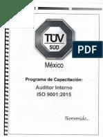 Programa de Capacitacion ISO 9001 2015