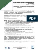 PROTOCOLO PARA LA PRESENTACIÓN DE TRABAJOS DE GRADO MODALIDAD PASANTÍAS UFPSO