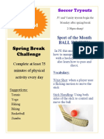 pe416 high school newsletter