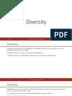 7. Diversity