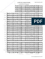 Acht Klankstudies - Score