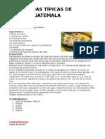 Comidas y Trajes Tipicas de Guatemala Por Departamento