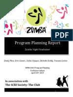 zumba fundraiser report