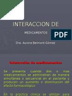 Gonzalez GuiaResidencias 1a Diapositivas Area 03 Interaccion de Medicamentos