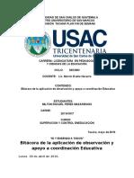 Bitácora de La Aplicación de Observación y Apoyo a Coordinación Educativa