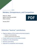 Klein Peter - Markets Entrepreneurs Ans Competition