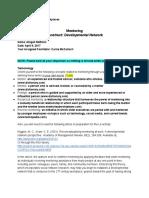 tel 431 l4 assignment  mentor network