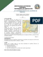 Condiciones GeoHidrologicas Texcoco