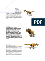 Dinosaurios Flash Cards