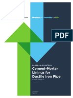Cement MortarLiningsforDuctileIronPipe