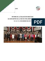 26-04-17 INFORME DE LA DELEGACIÓN MEXICANA 2do ENCUENTRO DE LA RED DE PARLAMENTO ABIERTO 15, 16, 17 y 18 DE MARZO DE 2017