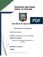 Ambitos Para Estudios Ecologicos, La Cuenca
