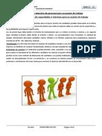 Mecanismos de selección de personal para un puesto de trabajo