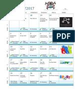 Activity Calendar, Updated April 26