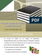 TECNICA DE ESTUDIO Y APRENDIZAJE