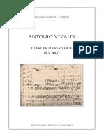 Oboe concerto in C RV 447