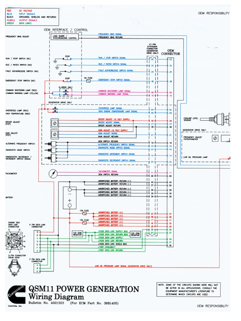 cummins qsm11 g drive wiring diagram rh scribd com Cummins QSM11 Parts Manual QSM11 Marine Used