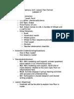 disciplinary unit lessons