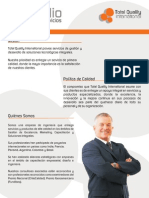 Portafolio Servicios de TQI (Total Quality International Ltda)