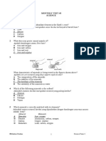 Sc F3 - Chapter 6 Test 1 Answer