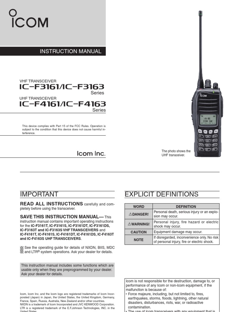 Icom ic f3161f4161 manual electromagnetic interference icom ic f3161f4161 manual electromagnetic interference electrical connector baditri Choice Image