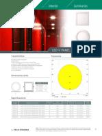 LED v Panel Sobrepuesto A